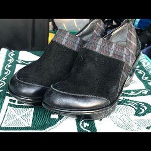 Jambu Sport Wedge Design Black Suede Slip On Shoes